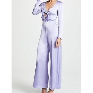 Staud lilac Jumpsuit with front tie